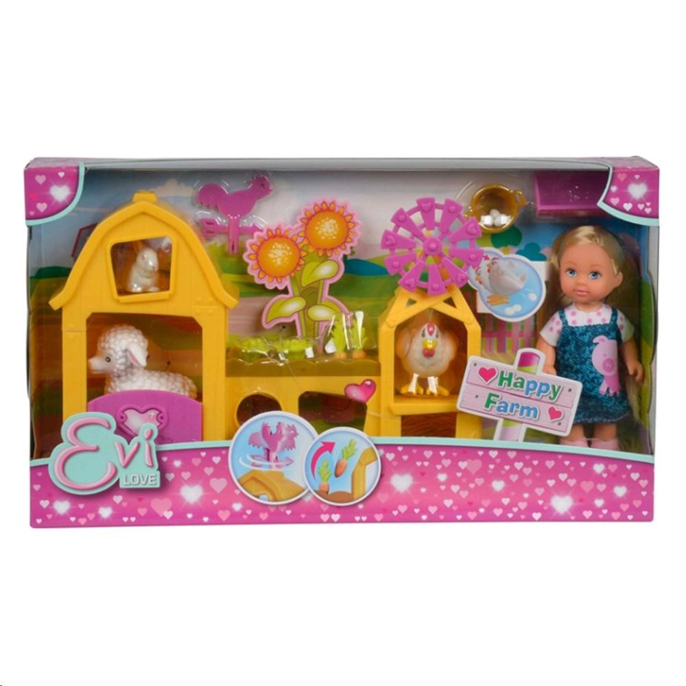 3075 Simba счастливая кукла Evi Ferma12cm