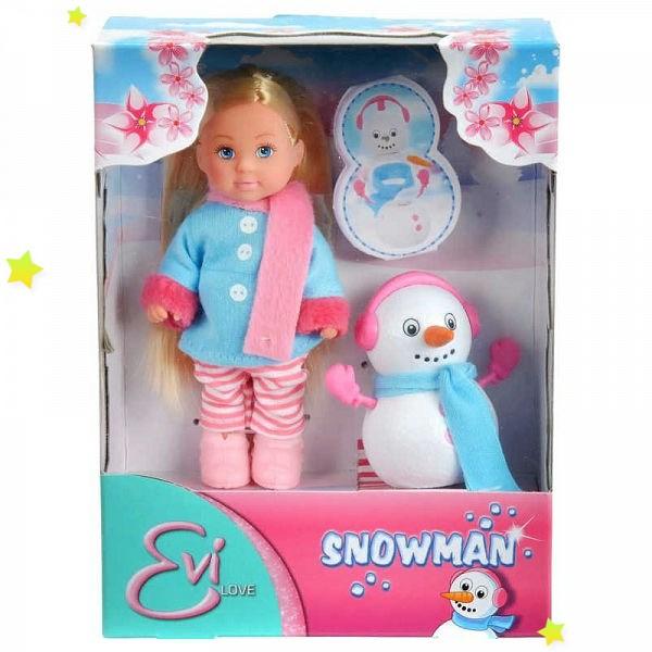 573 2805 Кукла Симба Эви со снеговиком 12 см