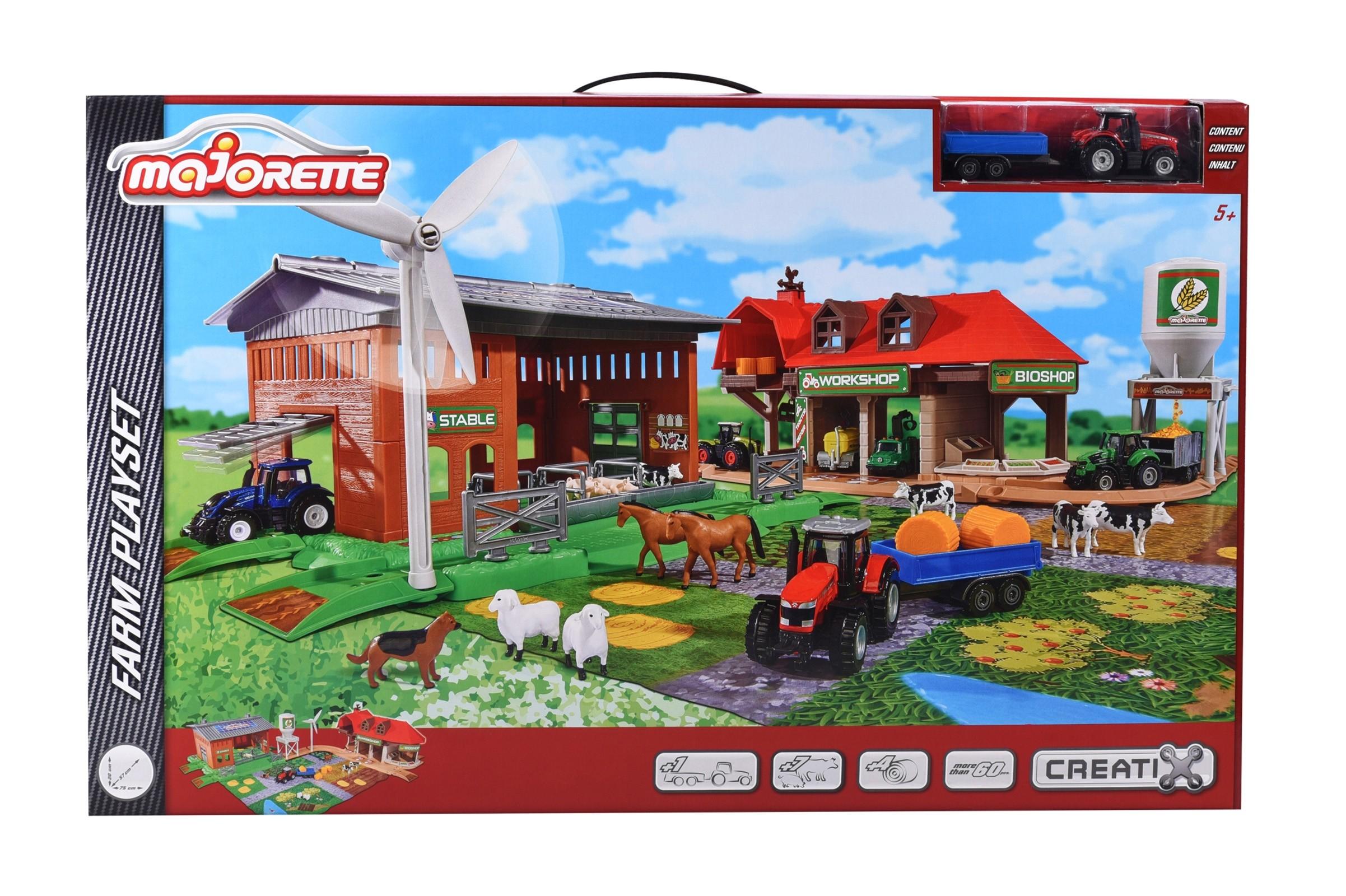 2050006 Majorette Игровой набор - Большая ферма + трактор CREATIX