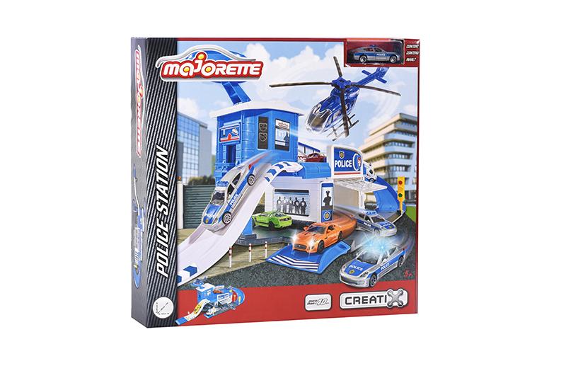 2050012 Игровой набор Majorette Парковка Полицейская станция Creatix, 1 машина