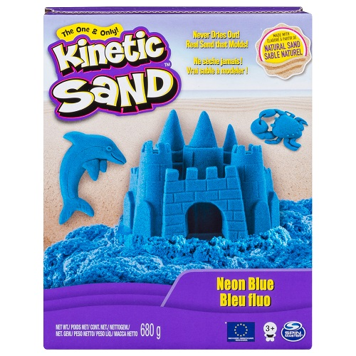 71409B Песок для детского творчества - KINETIC SAND COLOR (голубой, 680 г)