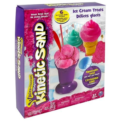 71417-1 Набор песка для детского творчества - KINETIC SAND ICE CREAM (розовый)