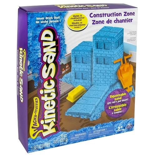 71417-2 Набор песка для творчества - KINETIC SAND CONSTRUCTION ZONE (голубой)