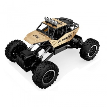 SL-122G Masina cu RC FORCE OFF-ROAD CRAWLER – metal, acumulator 7,2V, auriu 1:14