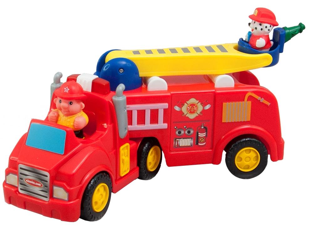 043265 Развивающая игрушка - ПОЖАРНАЯ МАШИНА (механическая, свет, звук)