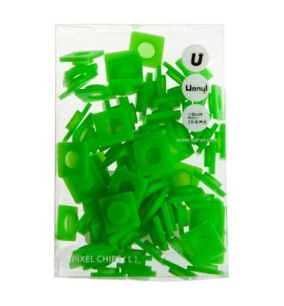 WY-P001K Резервные пиксели большие ярко зеленые Upixel