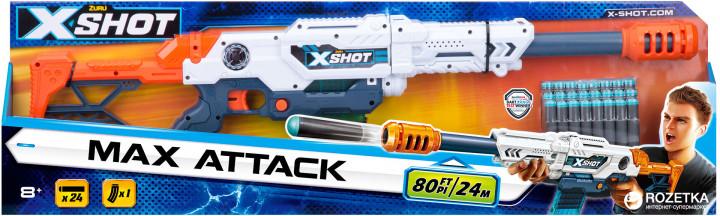 36121Z Blaster cu tragere rapida EXCEL Max Attack (3 b., 24 cartuse) X-Shot