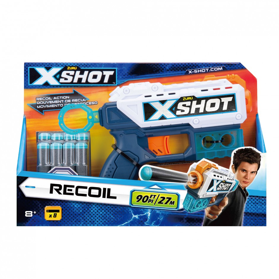36184Z Blaster cu tragere rapida  EXCEL Recoil (8 cartuse) X-Shot