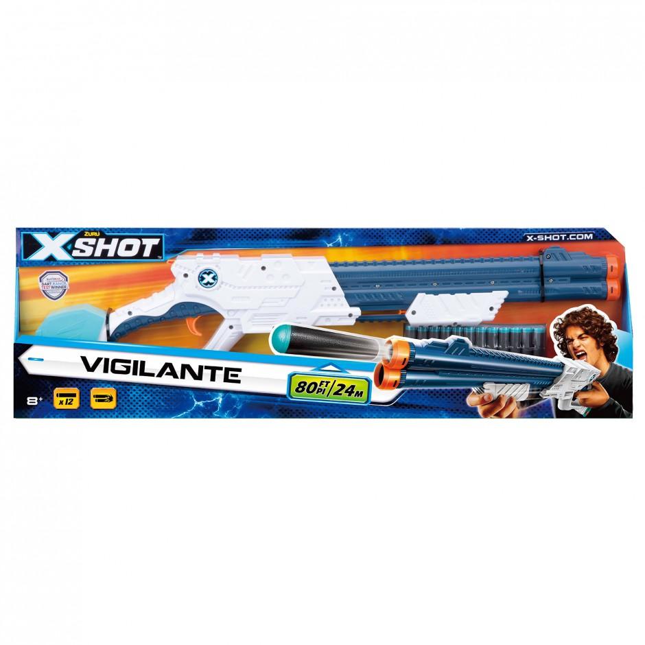 3609 Blaster cu tragere rapida EXCEL Vigilante (12 cartuse) X-Shot