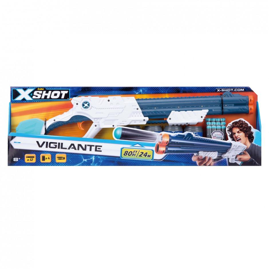 3623 Blaster cu tragere rapida EXCEL Vigilante (4 b, 12 cartuse) X-Shot