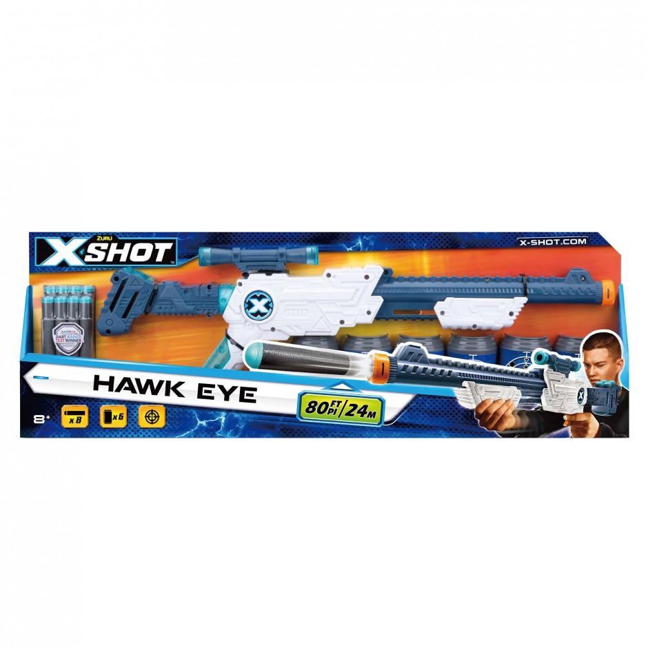 3634 X-Shot Скорострельный бластер EXCEL Скоп (8 патронов, 6 банок)