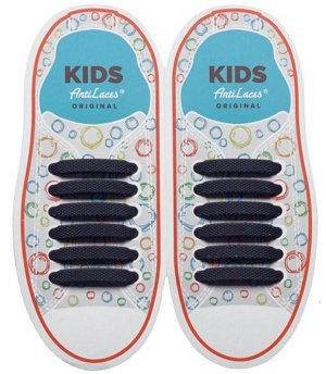 Kids Sireturi din silicon 38 mm NEGRE 6+6 buc