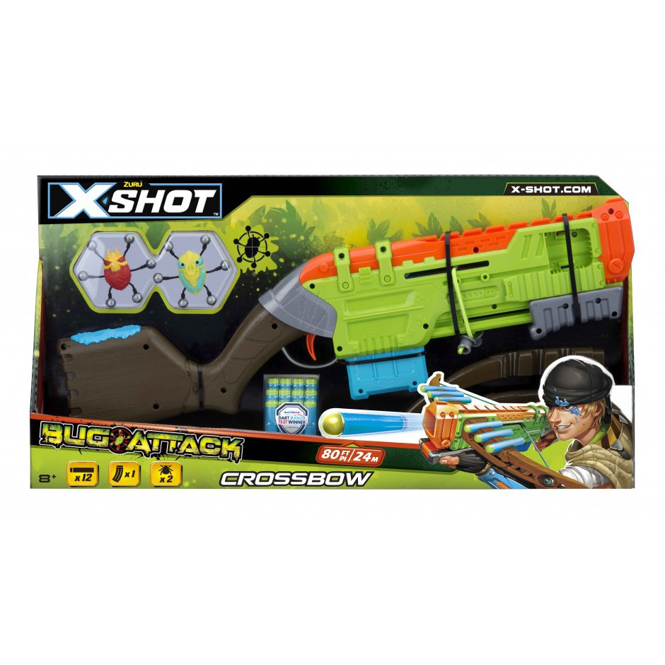 4817 X-Shot Скорострельный бластер Crossbow Вогонь по жукам (2 жука, 12 патрон)