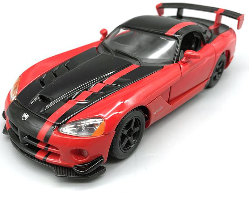 18-22114 Модель DODGE VIPER SRT10 ACR (металлик-оранжевый, металлик, красно-черный металл, 1:24)