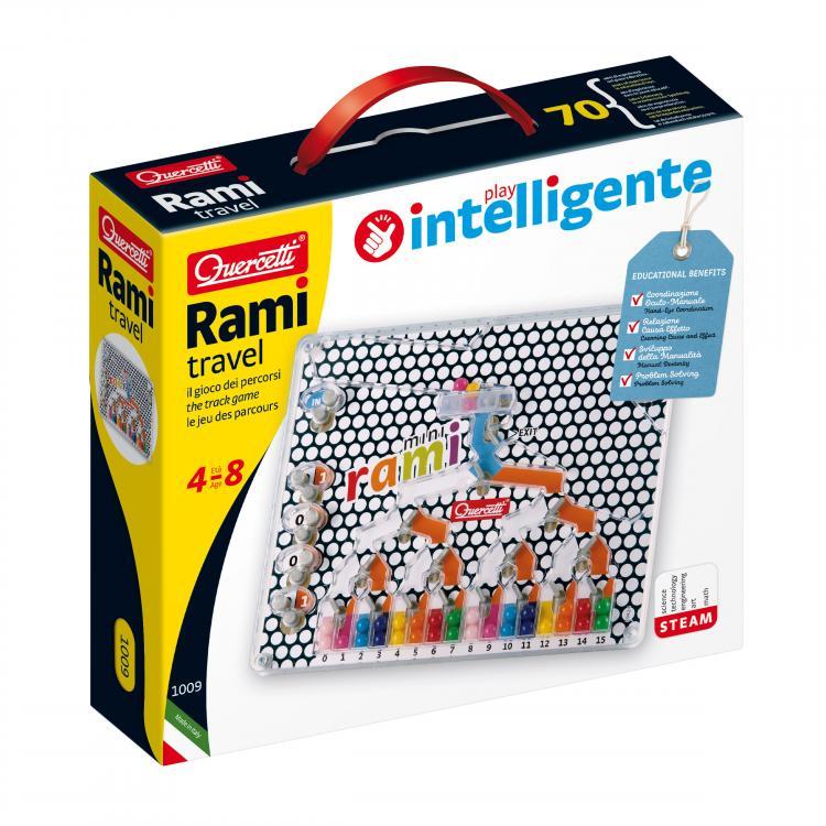 1009-Q  Развивающая игрушка-головоломка - РАМИ (дорожная версия)