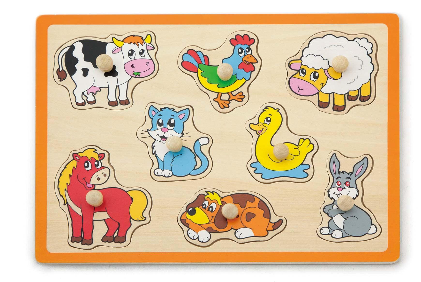 50017 Плоская головоломка - Сельскохозяйственные животные