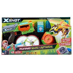 """4821X-Shot Бластер """"Огонь по летающим жукам"""" (2 летающих жука, 12 патронов)"""