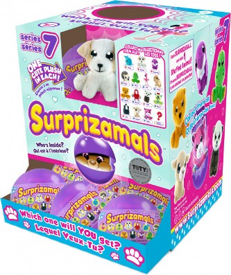 SUR20276 Jucarie moale -surpriza in ou SURPRIZAMALS S7(15 tip in as)