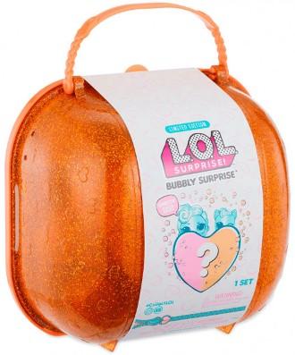 556268 Set L.O.L. Bubbly Surprise cu papusa si animalut  exclusive (valiza orange)