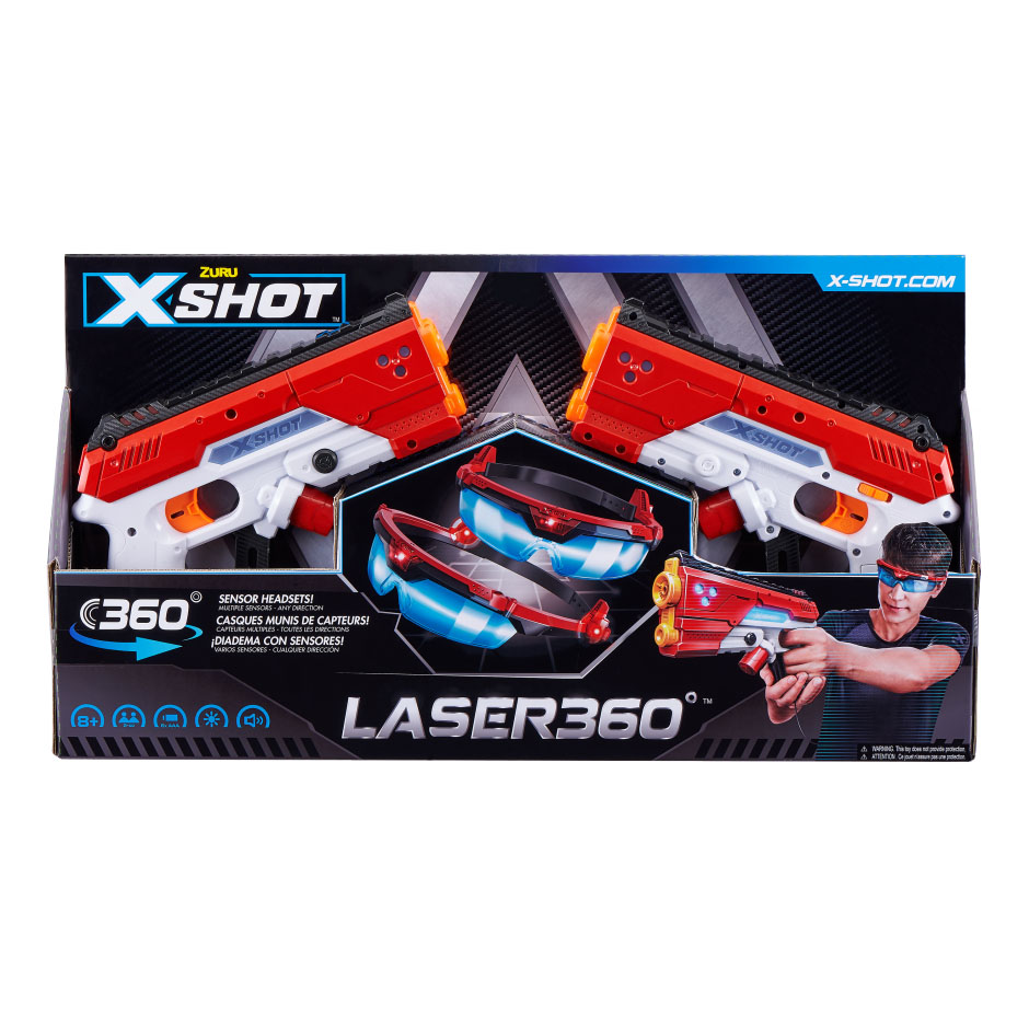 36280Z Set Laser Blasters X-Shot 'Laser 360'