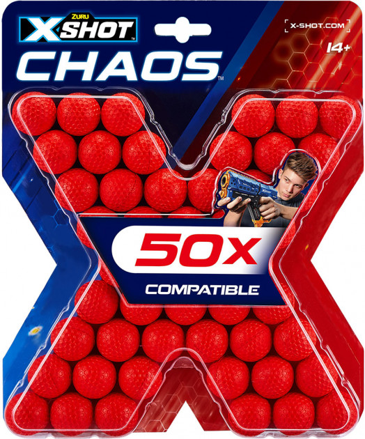 36327Z Set rezerve bile X-Shot 'CHAOS' (50 buc.)