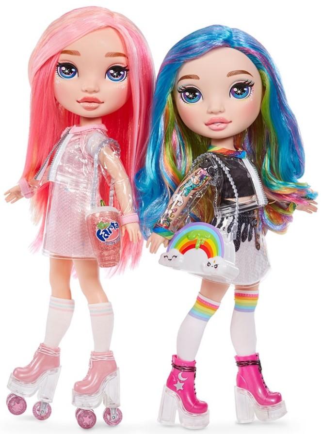 559887 Set de joaca cu papusa Poopsie Rainbow Girls ( papusa curcubeu sau papusa roz)