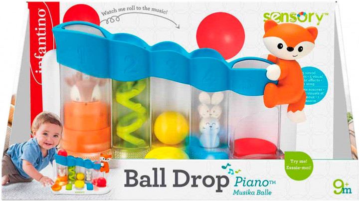 216428I Jucarie cu sunete si lumini Senso Ball Drop Piano Infantino