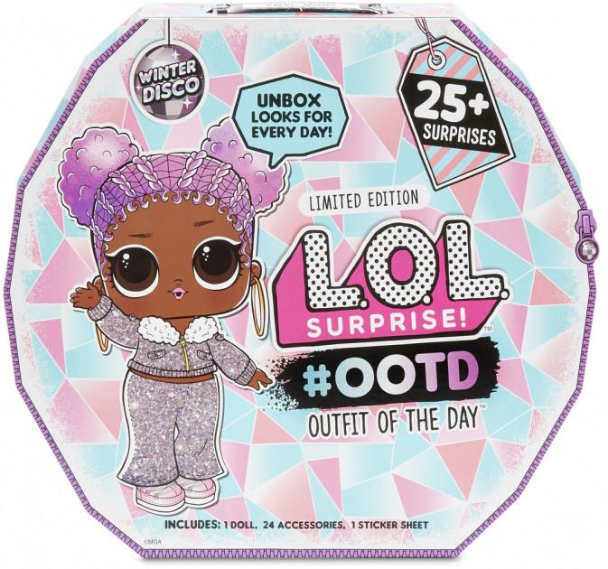 """562504 Set L.O.L. SURPRISE!  #OOTD seria  """"Winter Disco"""" (o papusa exclusiva si peste 25 surprize)"""