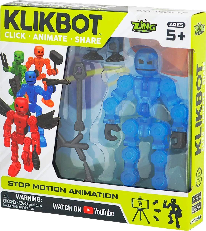 TST1600Blu Фигурка для анимационного творчества Stikbot Klikbot S1 синий