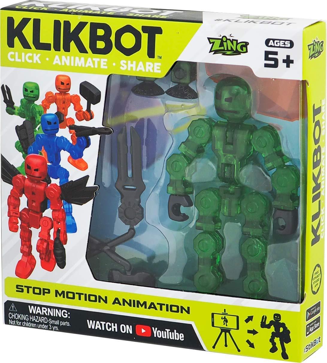 TST1600G Фигурка для анимационного творчества Stikbot Klikbot S1 зелёный