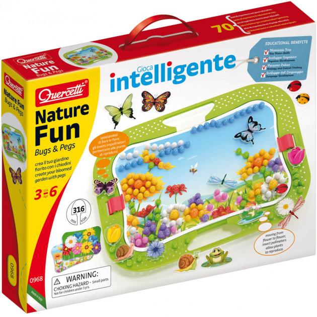 0968-Q Set Mozaica Quercetti Nature Fun (300 piese, 16 figuri, suport 28х20 cm)