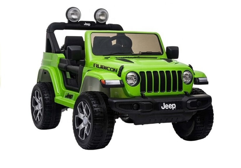 5284 Masina electrica Jeep Wrangler Rubicon culoare verde cu 2 motoare