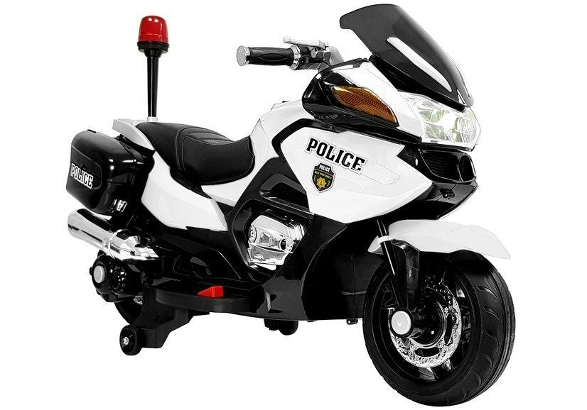 6443 Motocicleta electrica Politie YSA021A culoare alb-negru cu 2 motoare