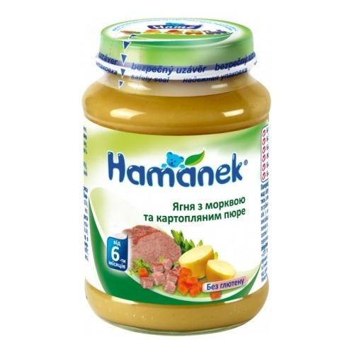 """Hame Piure """"Hamanek"""" Miel cu morcovi si piure de cartofi (6m +) 190 gr."""