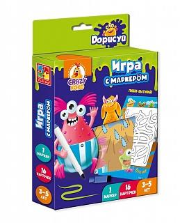 """VT5010-10 Joc cu marker """"Scrie si sterge. Monstri"""" (l. rusa) Vladi Toys"""