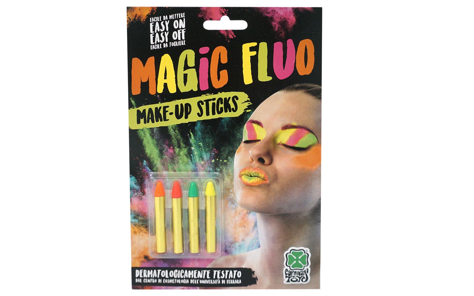 360684 Set creioane fluorescente pentru pictura pe fata 4 culori 09446
