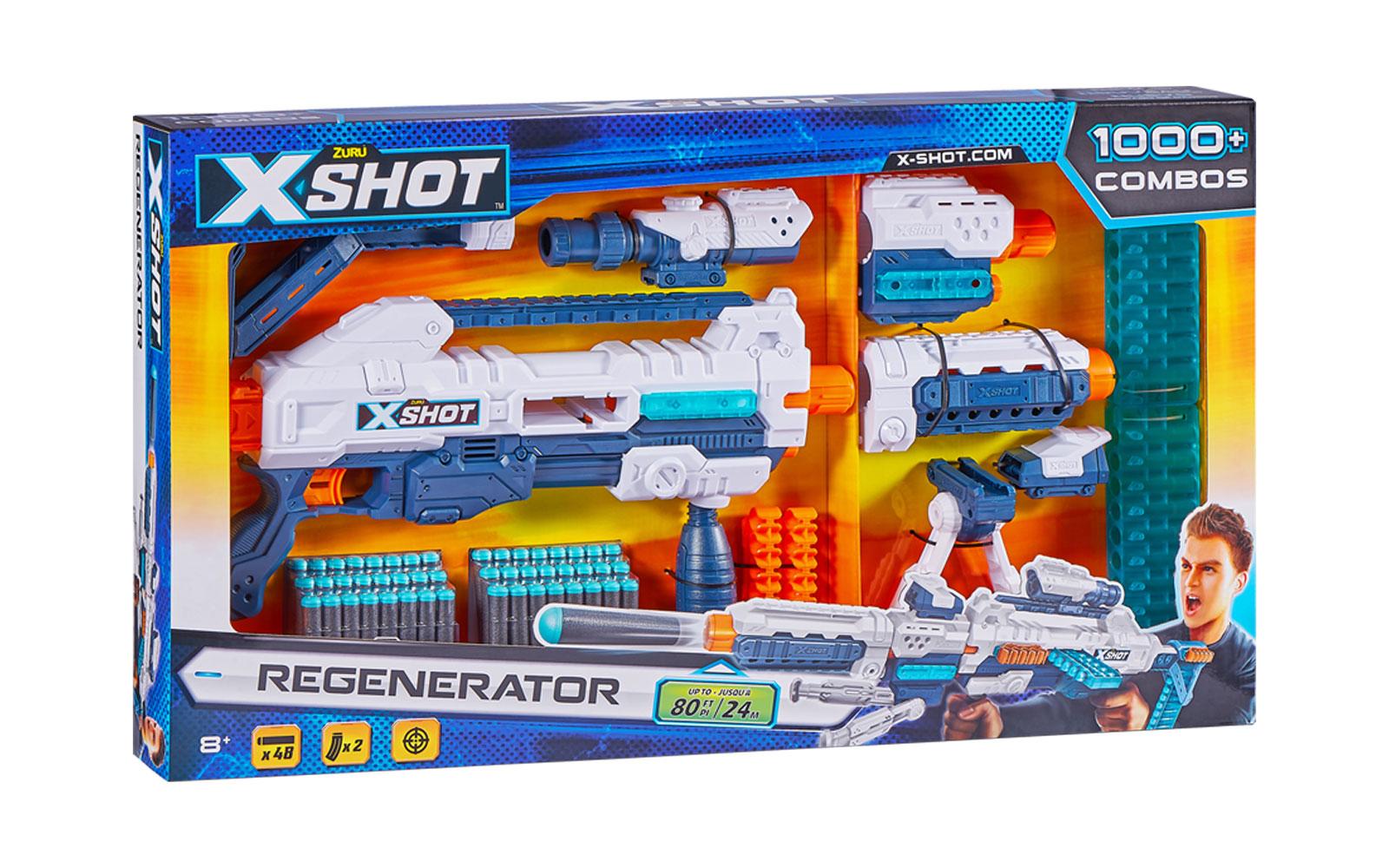 660106 Blaster mitraliera X-SHOT REGENERATOR 48cartuse 30539