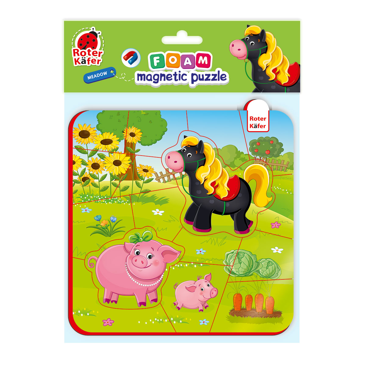 RK5010-08 Puzzle magnetic Calutul si  purcelul Roter Kafer