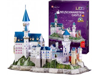 L174h 3D Puzzle Neuschwanstein Castle Led