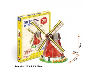 S3005 3D PUZZLE Holland Windmill