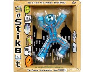 TST616Bl STIKBOT(albastru) - figurina robot cu ventuze