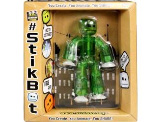 TST616G STIKBOT(verde) - figurina robot cu ventuze 034227