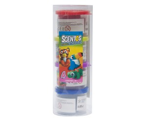 45521 Set plasilina aromata Scentos Energia Fructelor (4c.28gr. accesorii)