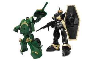 82010R Robot Transformer Tanc 15 cm verde
