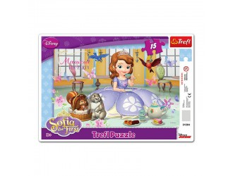 "31204 Puzzles-""15 Frame"" -teatime\ Disney Sofia the First"