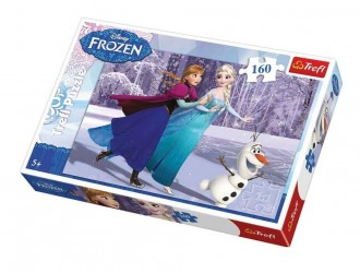 15317 Trefl Puzzles-160 -Ice skating/Disney Frozen