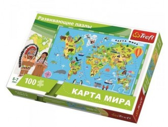 15527 Trefl Puzzle 100 Educational Harta