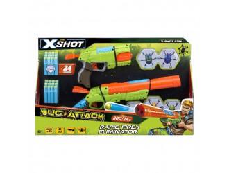 4804 X -Shot Набор бластеров Огонь по жукам (2 вида оружия, 5 жуков, 24 патрона)