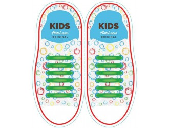 Kids Sireturi din silicon 38 mm VERZI 6+6 buc