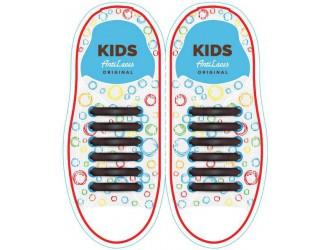 Kids Sireturi din silicon 38 mm CAFENII 6+6 buc